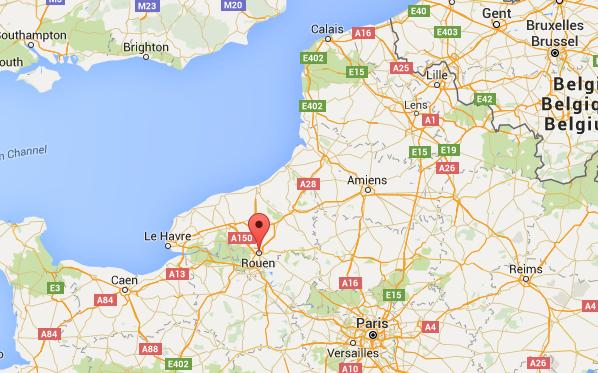 Rouen ligging